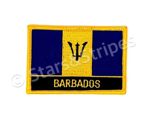 Barbados Flag Embroidered Patch