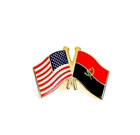 USA/Angola Flag Lapel Pin