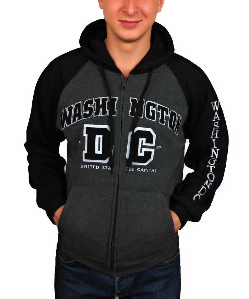 Washington DC Zippered Unisex Hoodie Sweatshirt