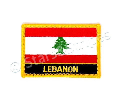 Lebanon Flag Embroidered Patch