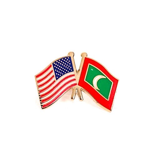 USA/Maldives Flag Lapel Pin
