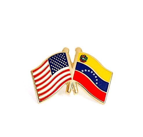USA/ Venezuela Flag Lapel pin