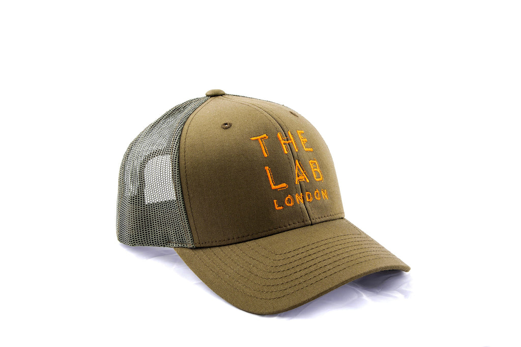The Lab London V2 Olive Retro Trucker  a15208c6f48