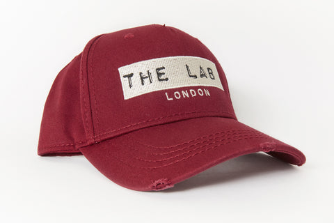 The Lab London Burgundy Distressed Belt Back Cap (Limited Edition)