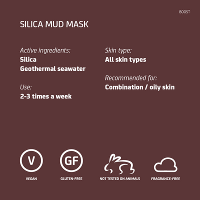 Blue Lagoon Silica Mud Mask data sheet