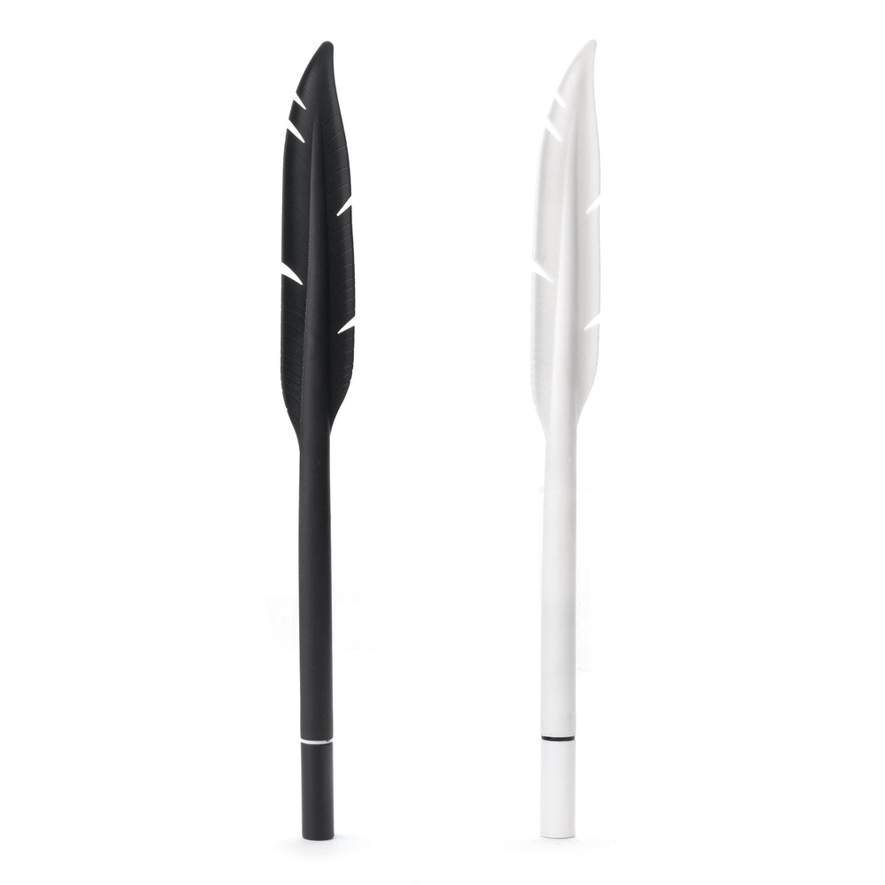 Feather Pen Black & White Assorted