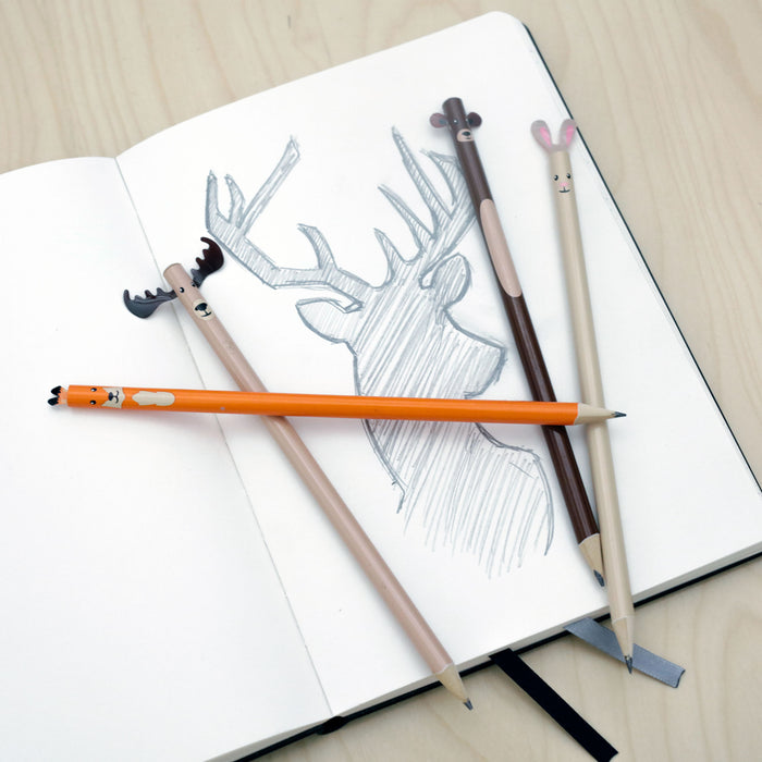 Woodland Pencil Set Of 4