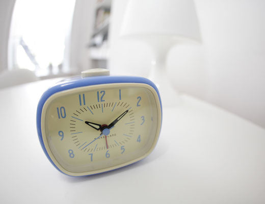 Retro Alarm Clock + Blue