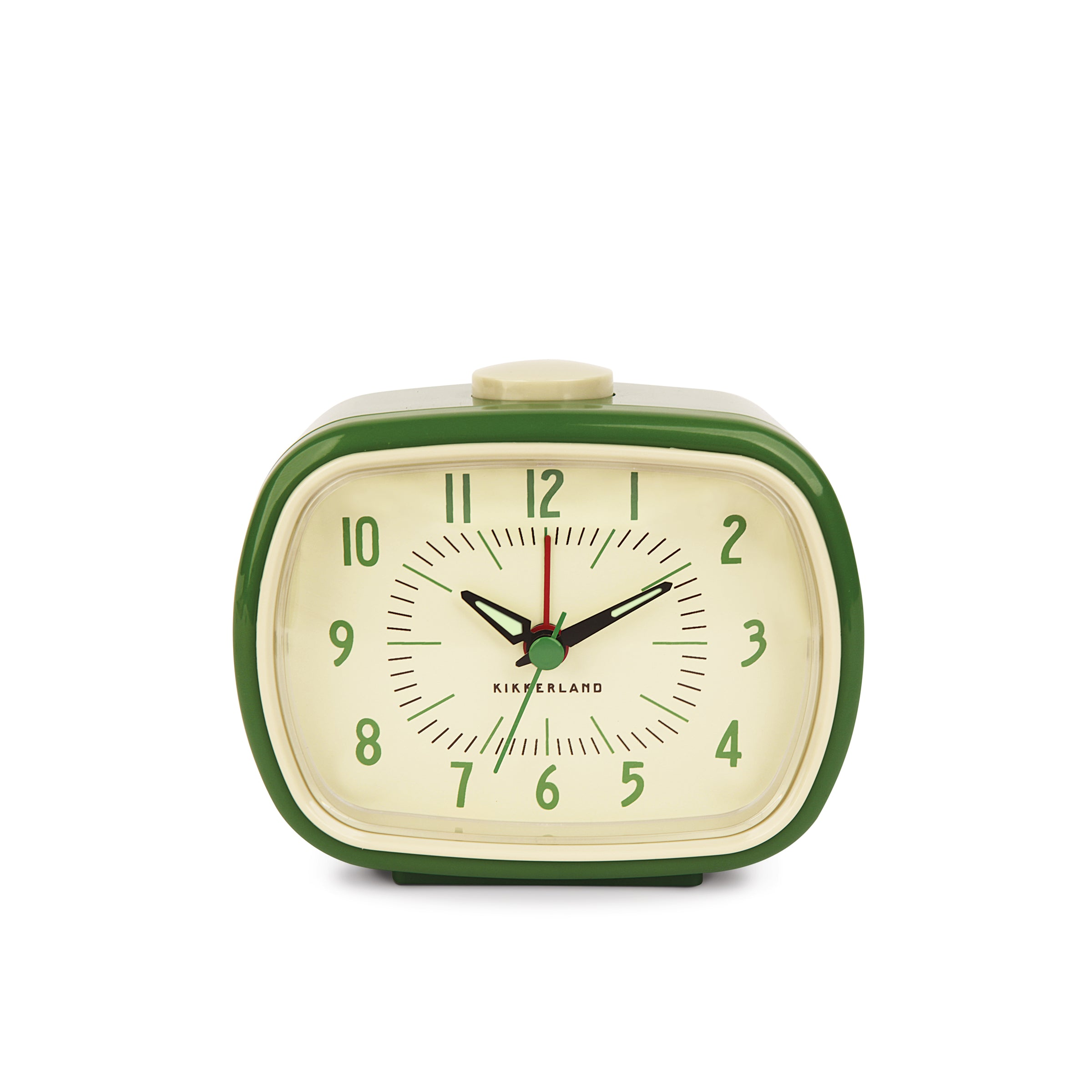 Retro Alarm Clock + Green – Kikkerland Design Inc