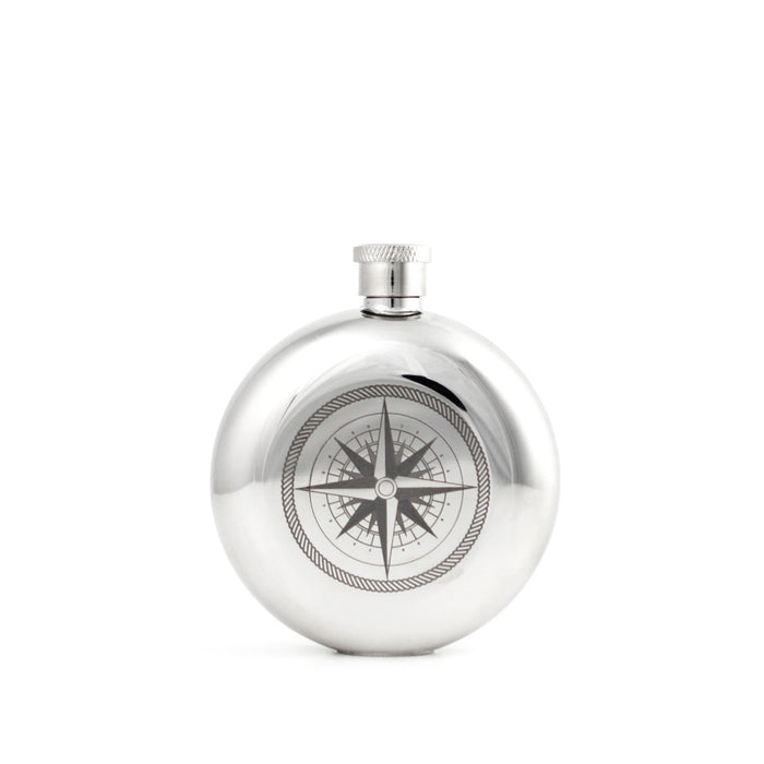 3 OZ Flask + Compass