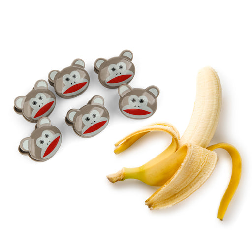 Bag Clips 6 Set + Monkeys