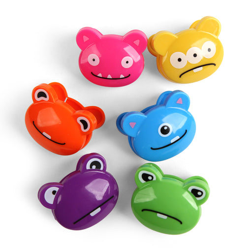 Bag Clips 6 Set + Crazy Monsters