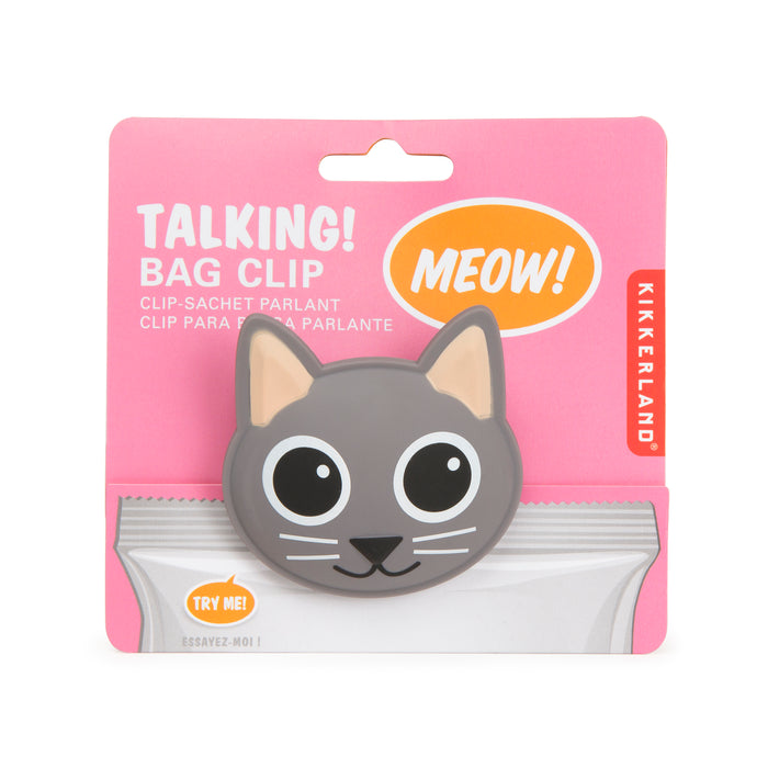 Talking Bag Clip Cat