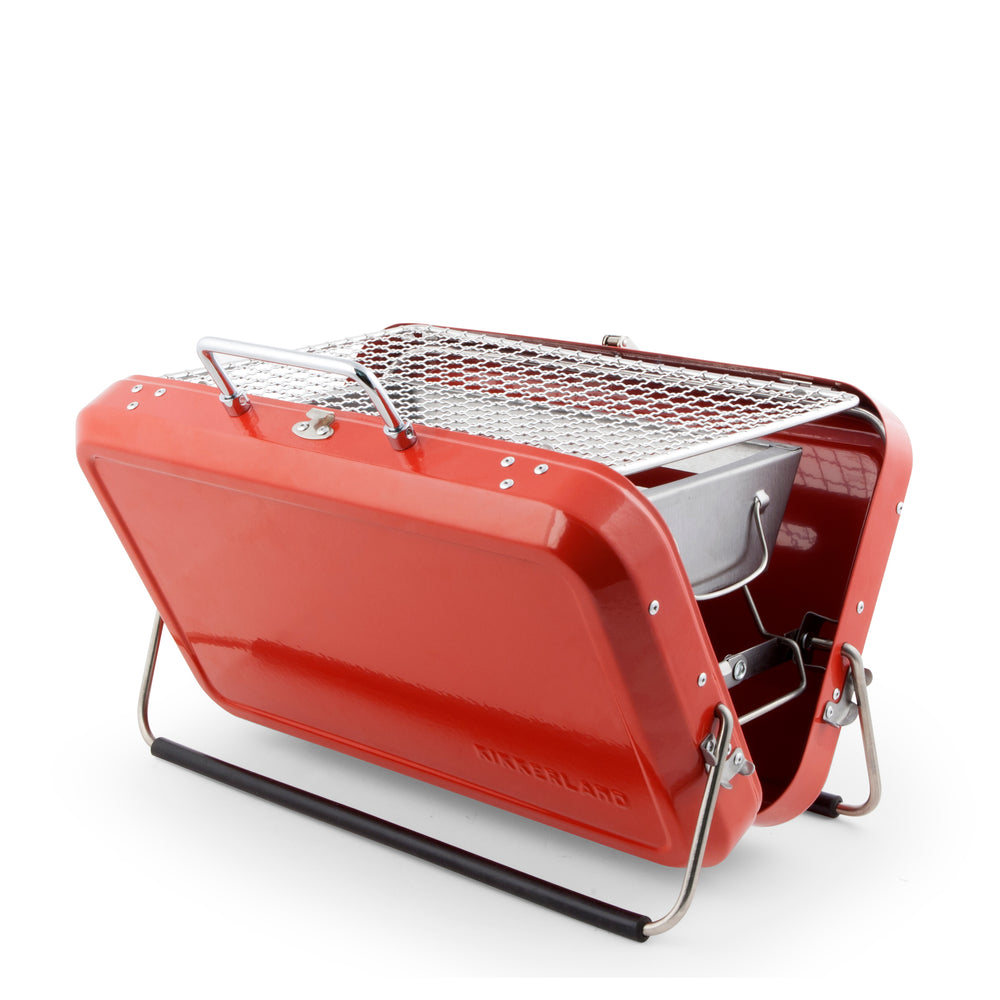 Portable BBQ Suitcase Red