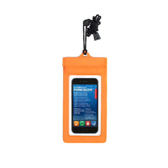 Orange Waterproof Phone Sleeve