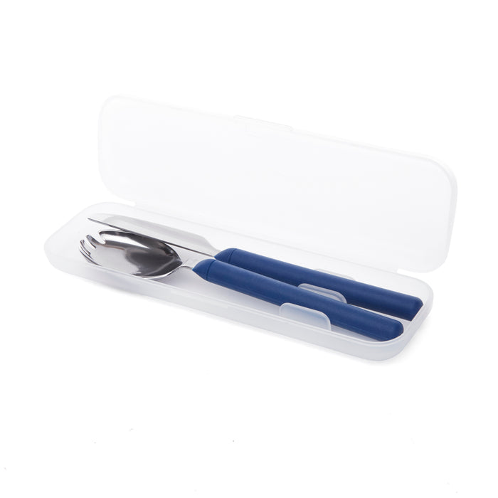 Travel Utensil Set - Navy Blue