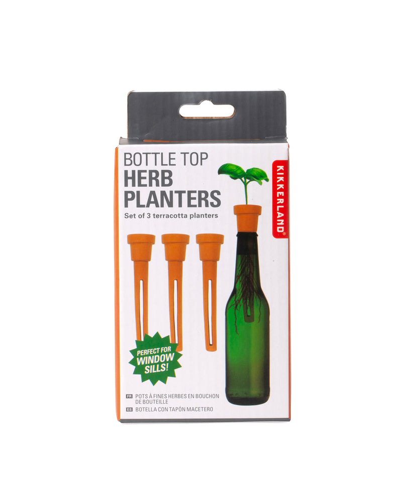 Bottle Top Herb Planters