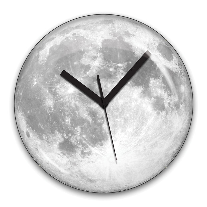 Wall Clock + Glow In The Dark Moon