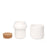 Ceramic Grinder + Jar Large White