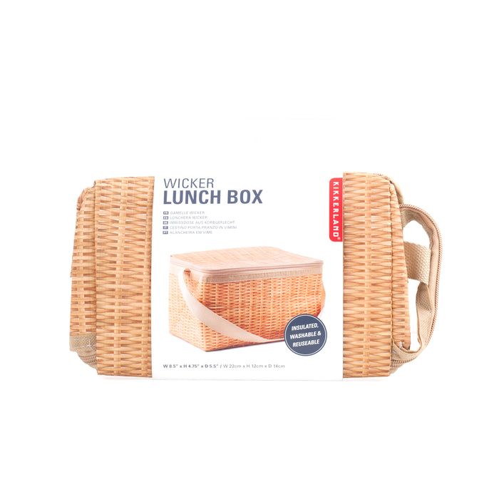 Wicker Lunch Box