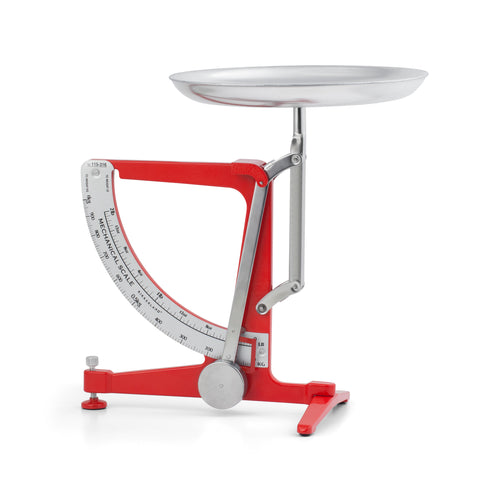 Red Mechanical Kitchen Scale
