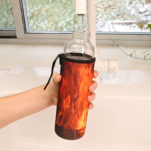 Fire Glass Bottle + Sleeve