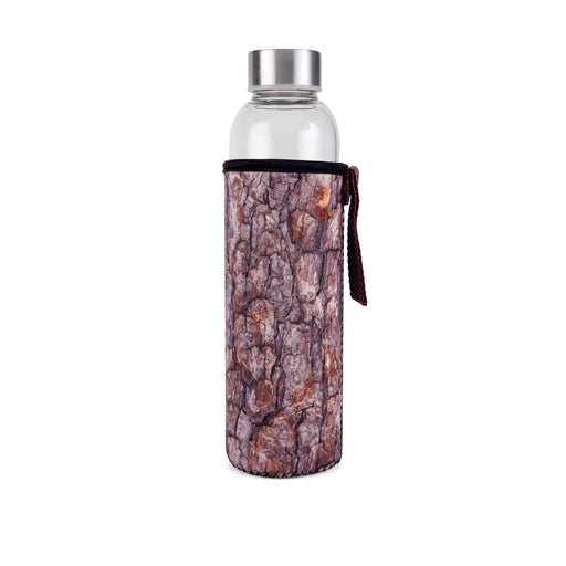 Log Glass Bottle + Sleeve