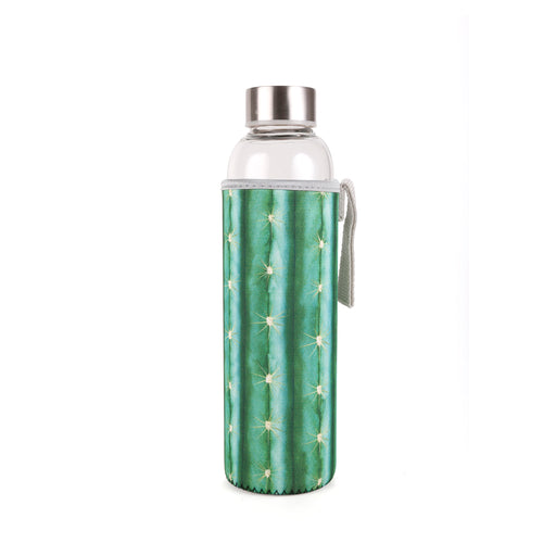 Cactus Glass Bottle + Sleeve