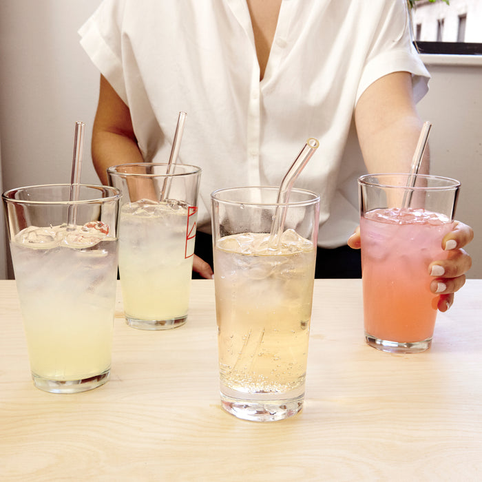 Clear Reusable Glass Straws