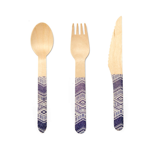 Wood Cutlery Tribal