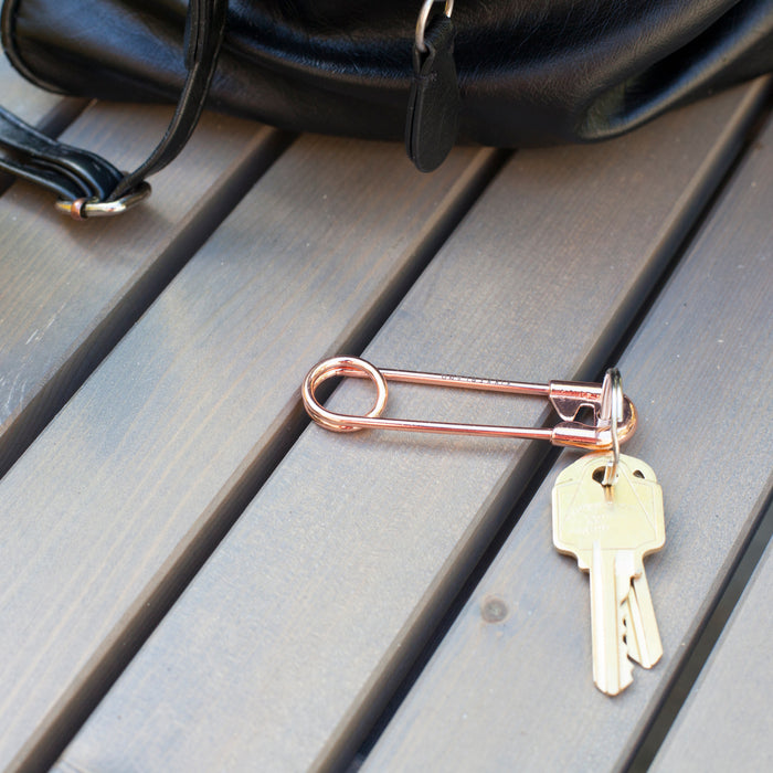 Key Ring Safety Pin Copper