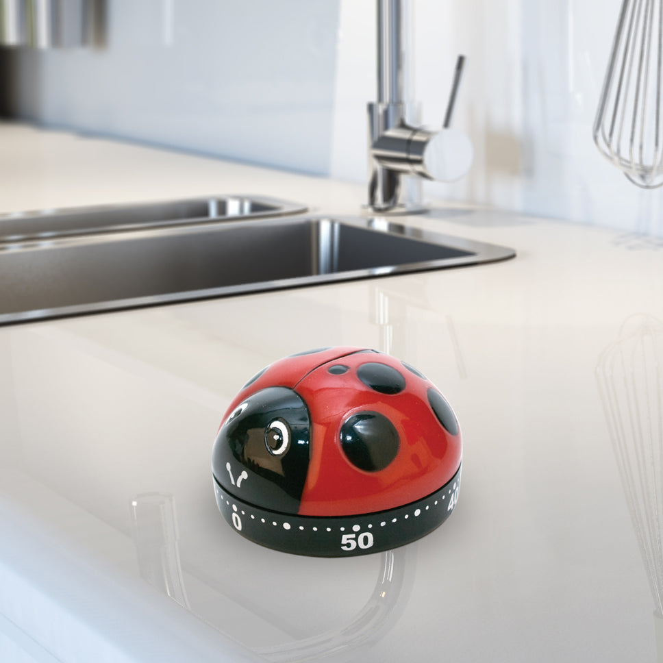 Kitchen Timer Ladybugs Red