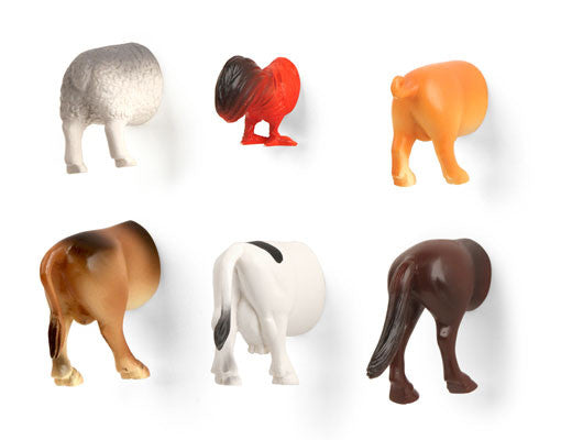 Farm Animal Butt Magnets 6 Per Set