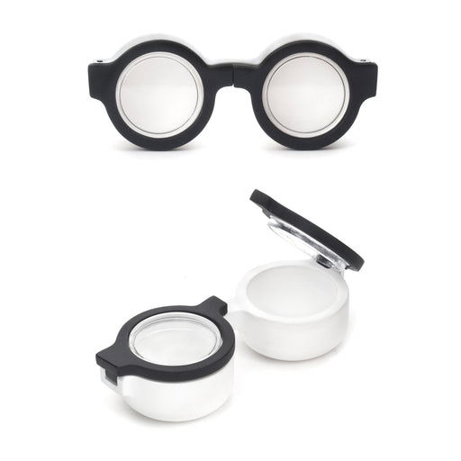 Contact Lens Case Round Glasses