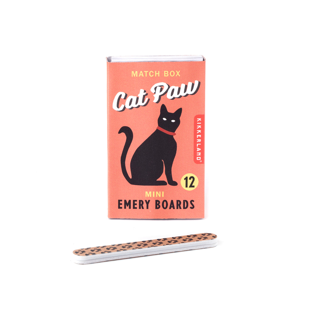 Cat Paw Match Box Emery Boards