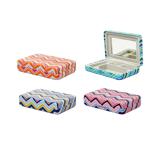 Portable Striped Jewelry Case