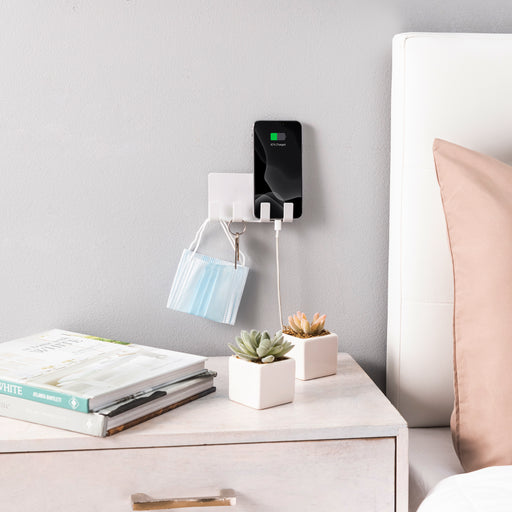 Wall Mounted Phone Holder - White