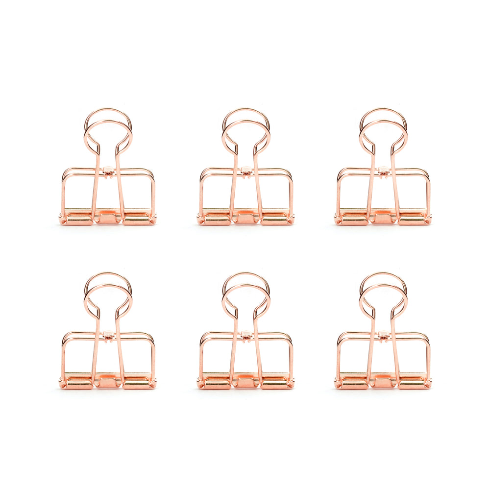 Copper Wire Clips Set Of 6