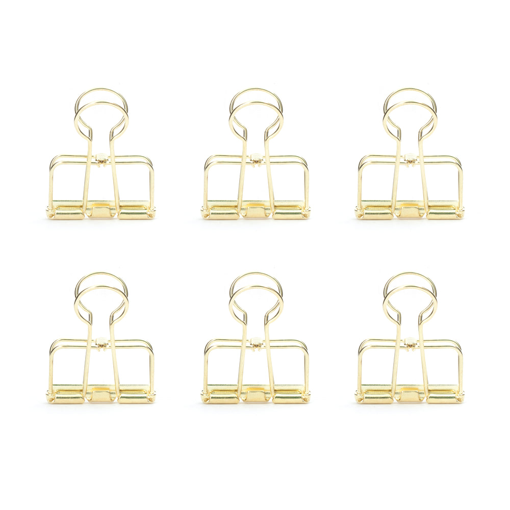 Gold Wire Clips Set Of 6