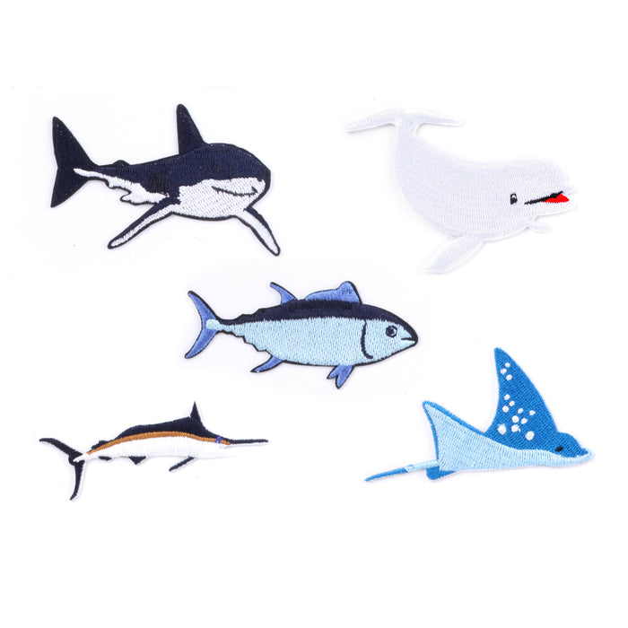 Small Sea Creatures Iron-on Patches