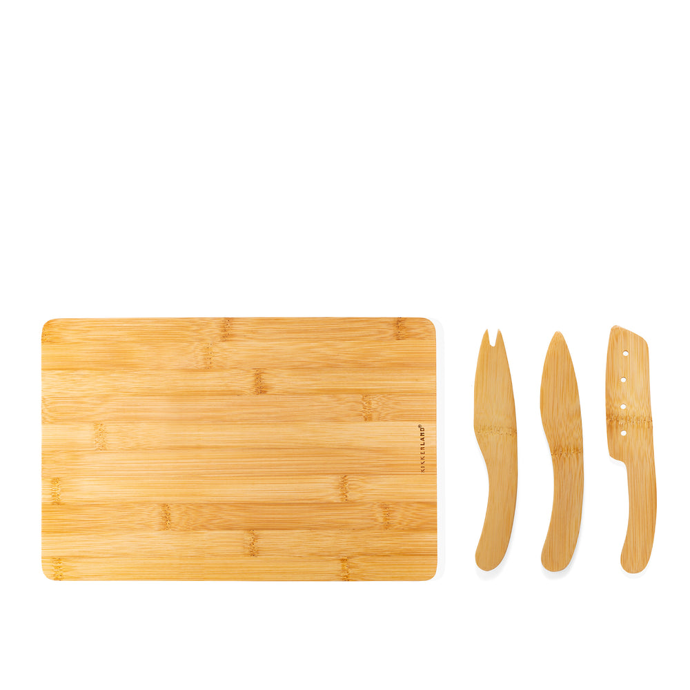 Cut & Serve Bamboo Cheese Board Set