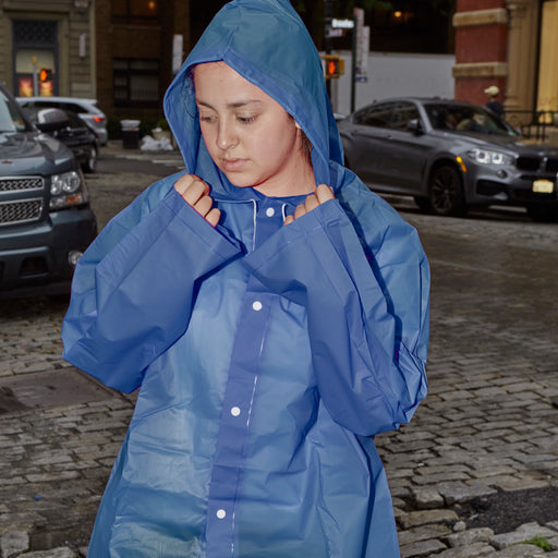 Blue Compact Raincoat