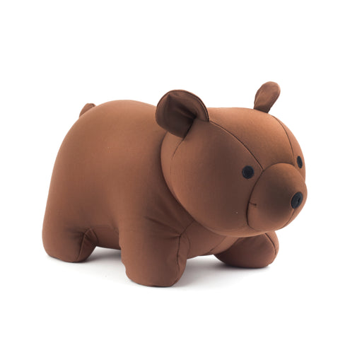 Zip And Flip Bear Head Rest Brown