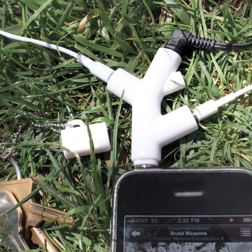 Branch Earphone Splitter White