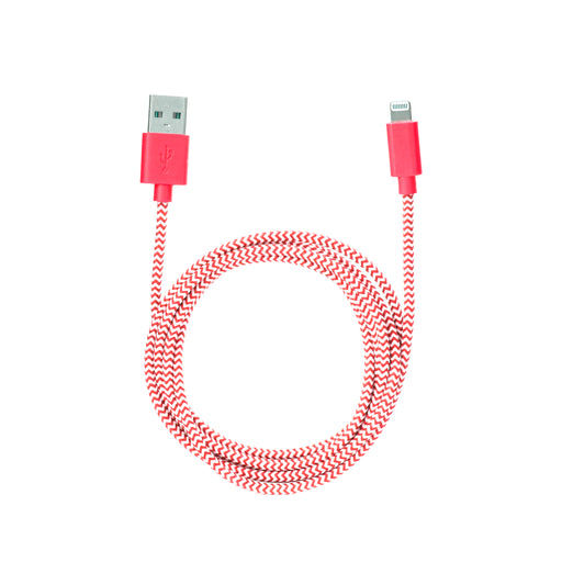 iPhone Lightning Red Cotton Braided Charging Cable