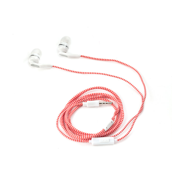 Red Braided Earbuds