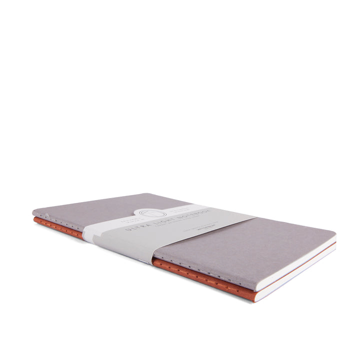 Ruled - Light Gray / Rust - WritersBlok Notebook