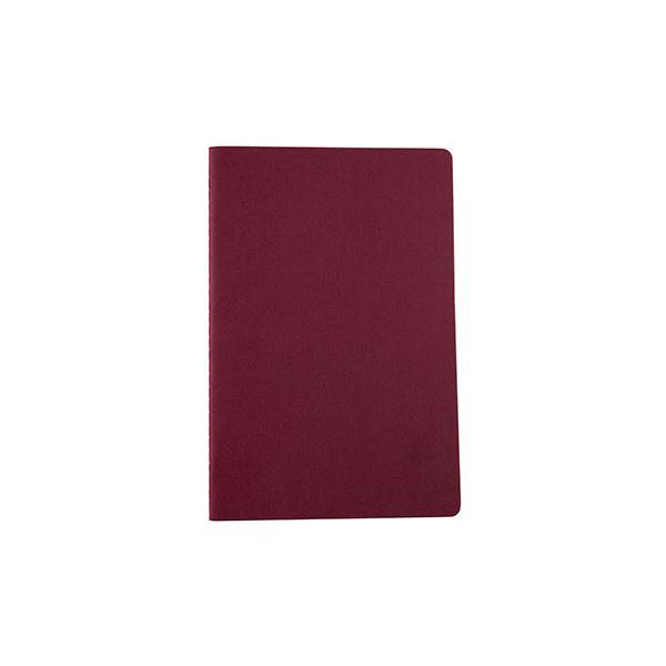 Plain - Dark Gray / Maroon - WritersBlok Notebook
