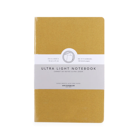 Plain - Navy / Yellow - WritersBlok Notebook