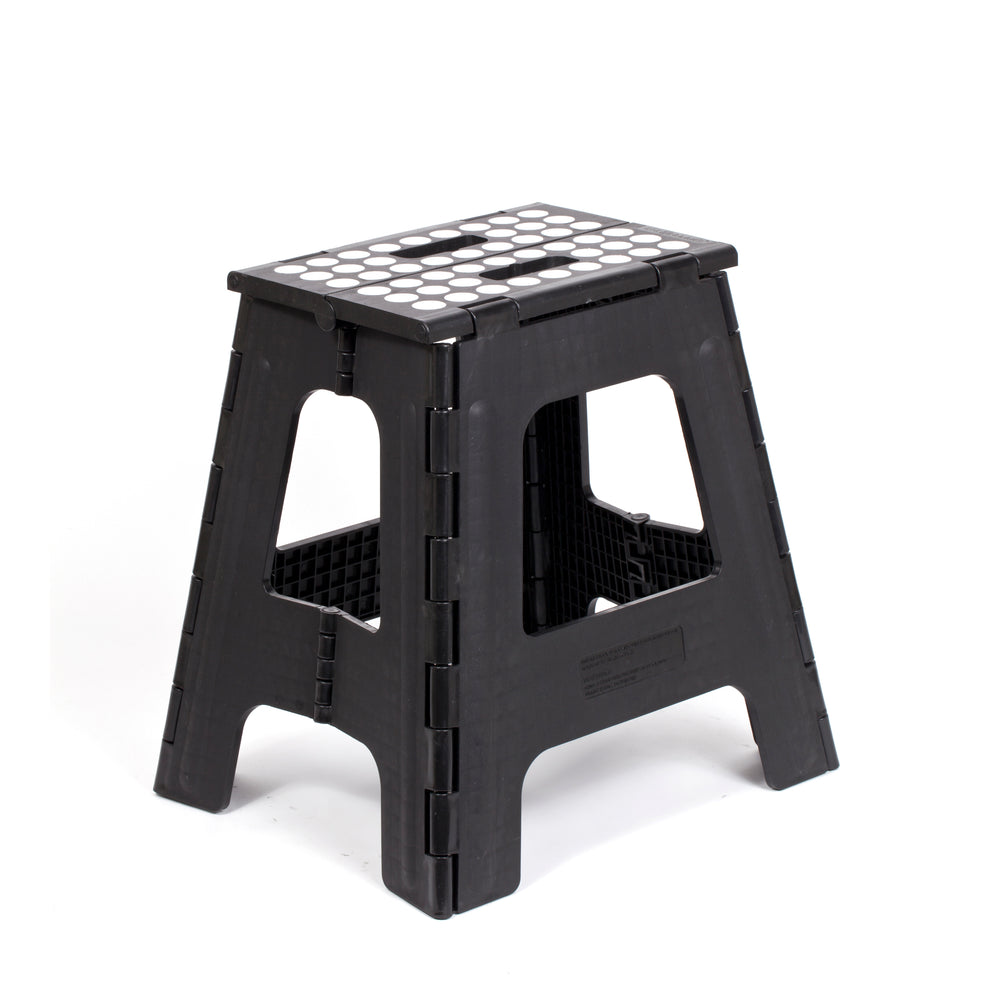 Step Stool Folding Tall Black Kikkerland Design Inc